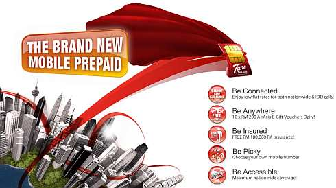 TuneTalk launched! The Brand New Mobile Prepaid.
