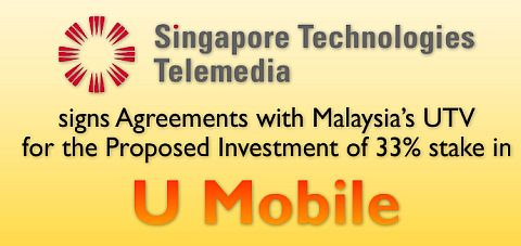 Singapore's STT to invest in 33% stake in U Mobile