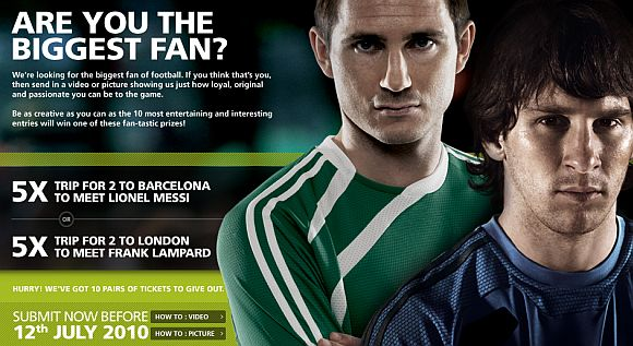 Maxis Biggest Fan contest with trips to see Messi and Lampard