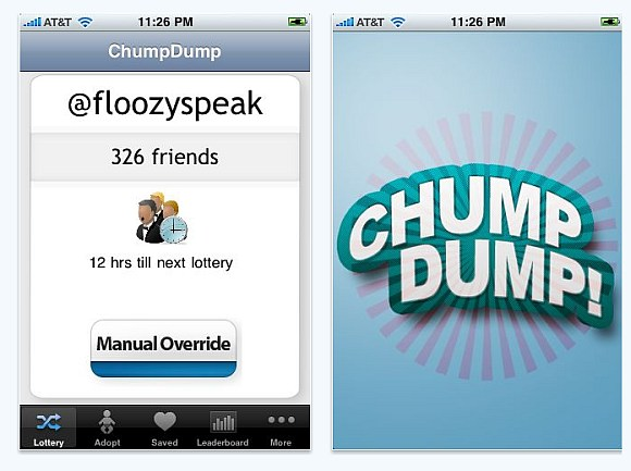 ChumpDump: Getting rid of useless followers on Twitter and have fun doing it
