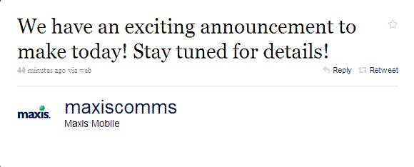 Maxis announcing something exciting soon