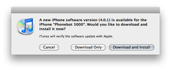 Apple release iOS update 4.0.1 for iPhone and 3.2.1 for iPads