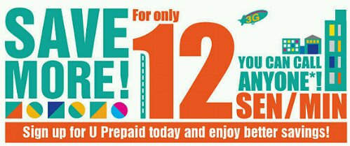 U Mobile Prepaid 12 sen/minute Promo but is it really to anyone?
