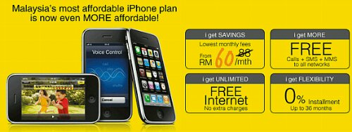 DiGi cuts iPhone 3GS prices & monthly fee