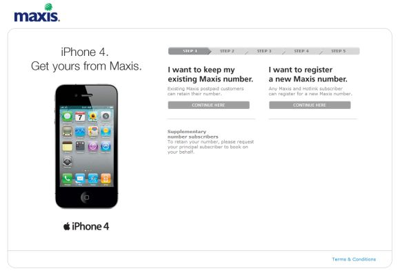 Maxis iPhone 4 booking now open! Get yours on launch day!