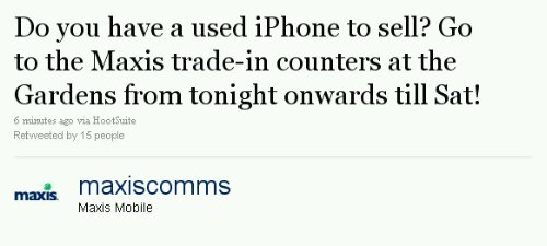 Maxis offers trade in for iPhones until Saturday
