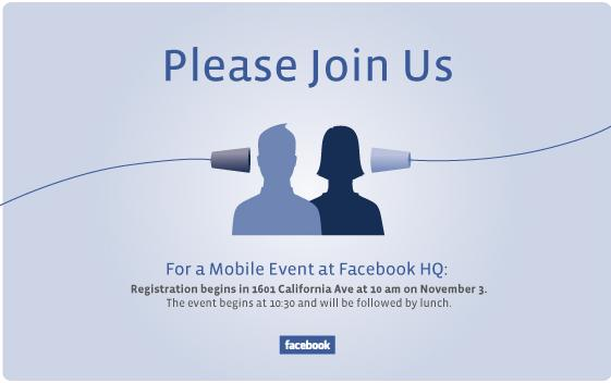 Facebook announcing something mobile November 3 but what is it?