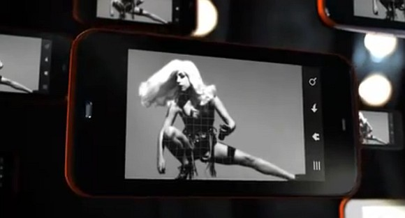 Sharp IS03 commercial starring Lady Gaga