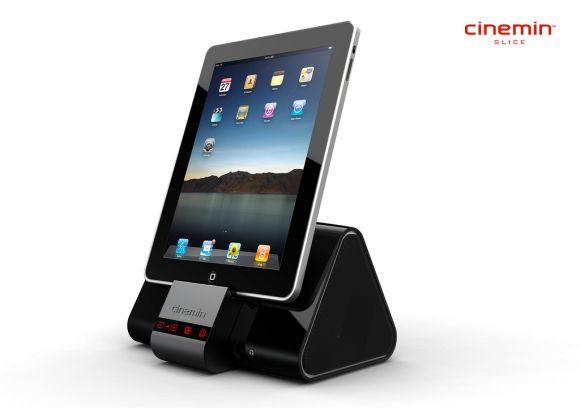 Cinemin Slice: Pico projection and stereo speakers all in one dock