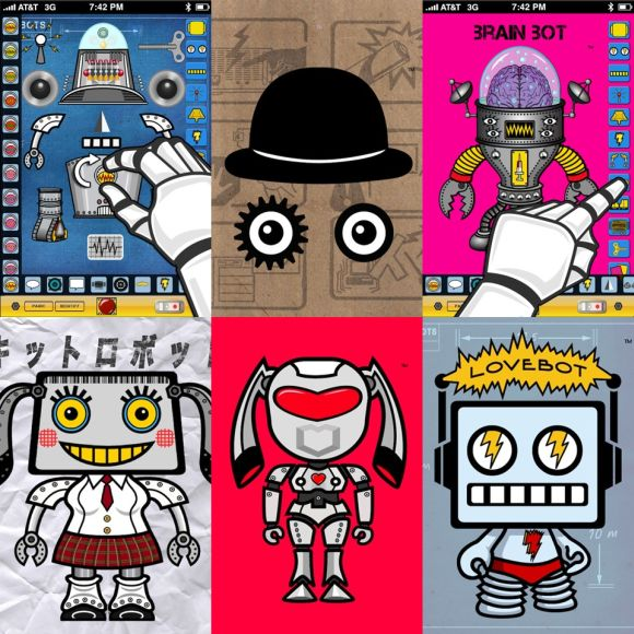 LoveBots: Tons of robot kits to built your own robot avatar on your iDevice
