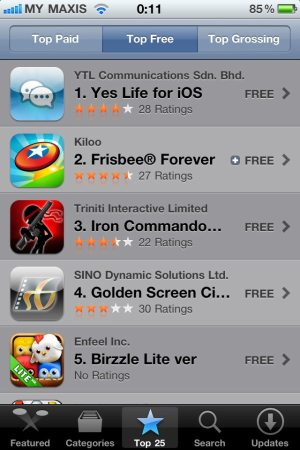 Yes Life app top free in Malaysia