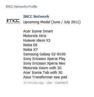Motorola Atrix, Xperia Play and more coming to Malaysia June/July