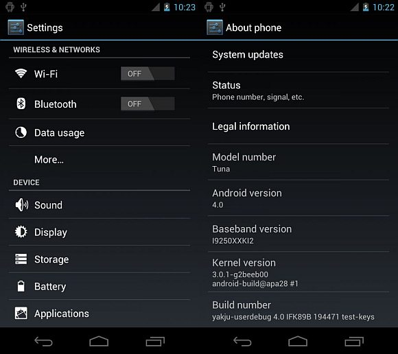 Android 4.0 Ice Cream Sandwich screenshots revealed