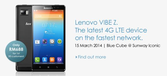 Celcom offers special fire sale for Lenovo Vibe Z this Saturday