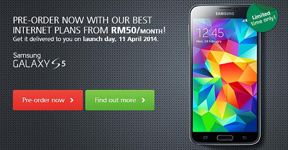 Maxis opens its pre-order for the Samsung Galaxy S5