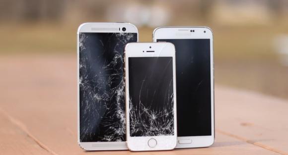 HTC One M8 vs Galaxy S5 vs iPhone 5S Drop Test