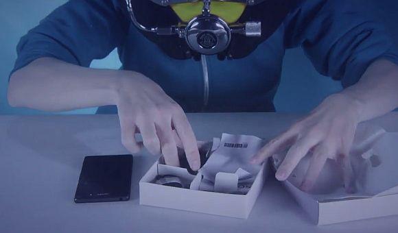 Waterproof Sony Xperia Z3 gets unboxed underwater