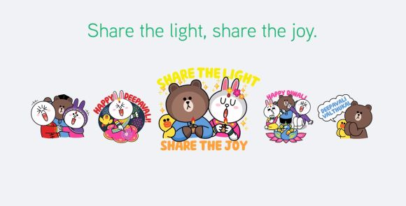 Send LINE stickers this Deepavali for a good cause