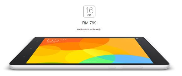 Xiaomi Mi Pad is officially priced at RM799 for 16GB version