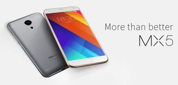 Meizu announce its MX5 flagship. Featuring a larger 5.5″ display and unibody metal design