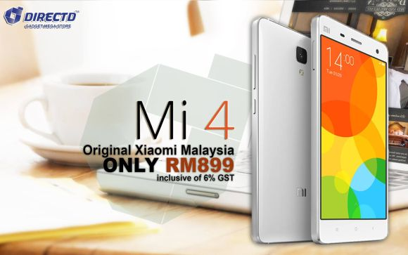Xiaomi Mi 4 original set going for RM899 but only if you can live without 4G