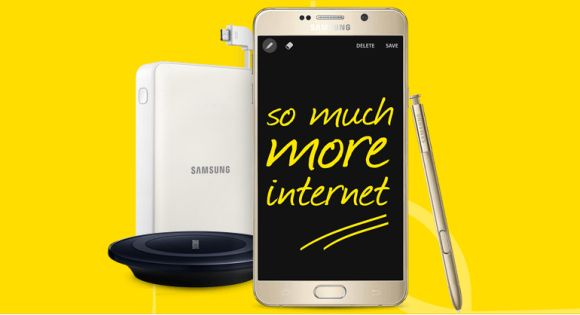 The Galaxy Note5 and S6 edge+ are also available on Digi SmartPlan