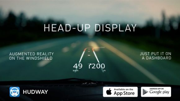 HUDWAY Glass turns your smartphone into a heads-up display