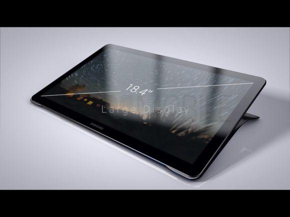 Promo photos of the 18.4-inch Samsung Galaxy View shown in leak