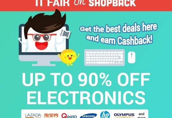 Get incredible discounts and cashback at ShopBack's online IT fair