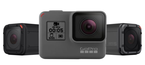 GoPro's HERO5 Black and HERO5 Session are waterproof and can take voice commands