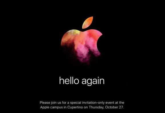 Apple's October Mac event is official. New MacBook Pro?