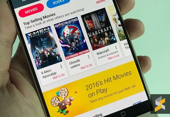 Rent any movie on Google Play for only RM1.49