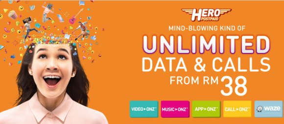 U Mobile offers unlimited calls on postpaid from as low as RM38/month