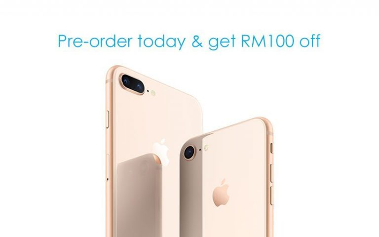 Celcom offers additional RM100 off if you pre-order the iPhone 8 today