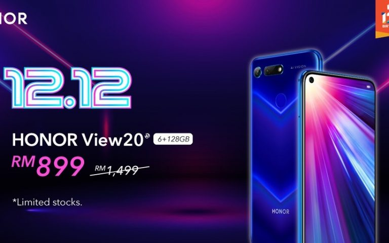 Deal: Honor View 20 can be yours for only RM899 on 12.12
