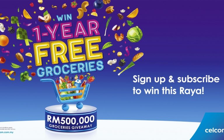Celcom is giving away 1-year free groceries to 20 lucky users