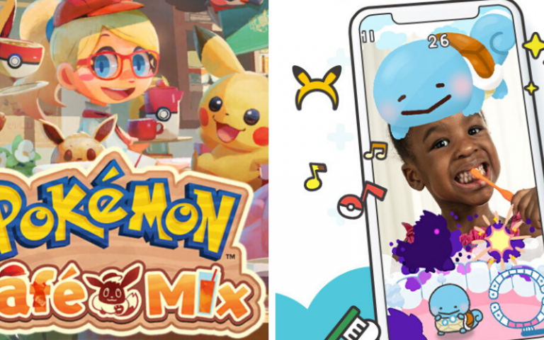 Here are two new mobile Pokemon Games. One can help with oral hygiene