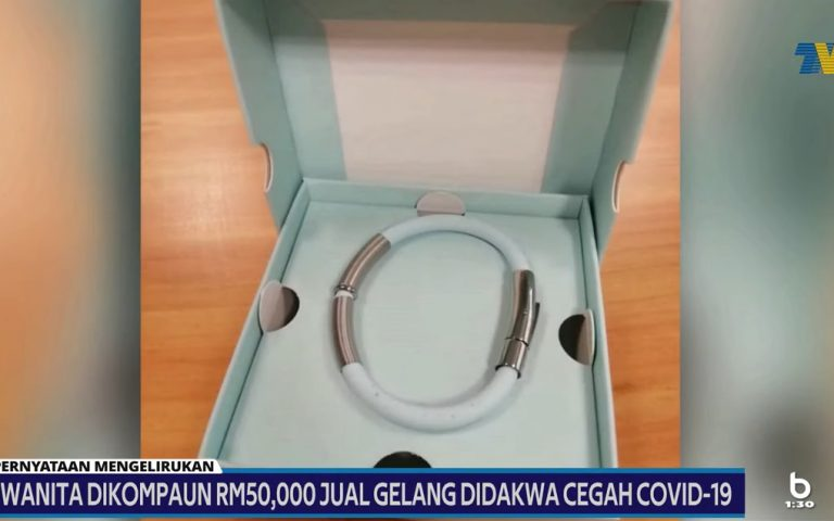 Woman fined RM50,000 for promoting COVID-19 repelling bracelets on Facebook