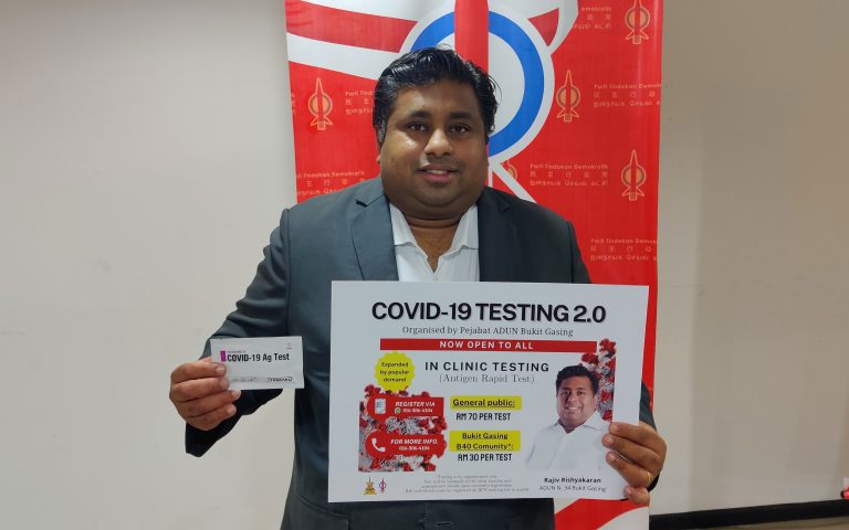 Selangor assemblyman offers COVID-19 tests for as low as RM30