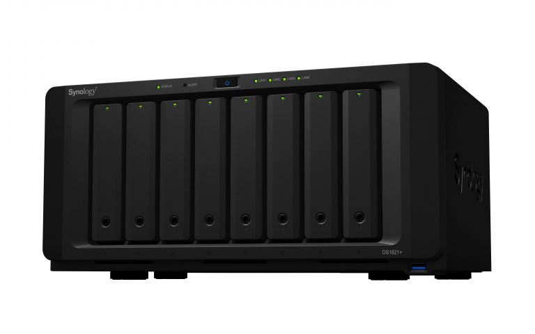 Synology debuts 8-bay DS1821+ NAS, powered by AMD Ryzen