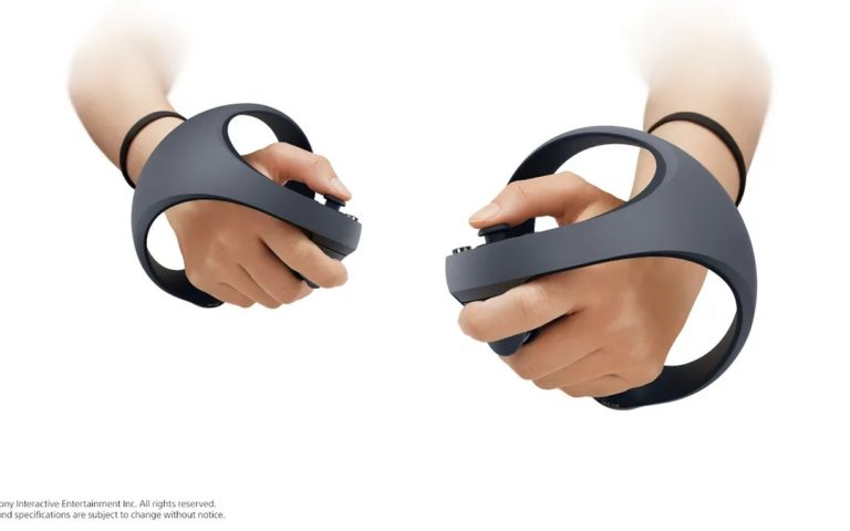 This is Sony's new VR controller for the PS5, and it comes with the DualSense's adaptive triggers