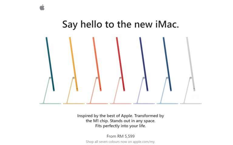 You can now buy the iMac 2021 in Malaysia, fully-specced model costs over RM10,000