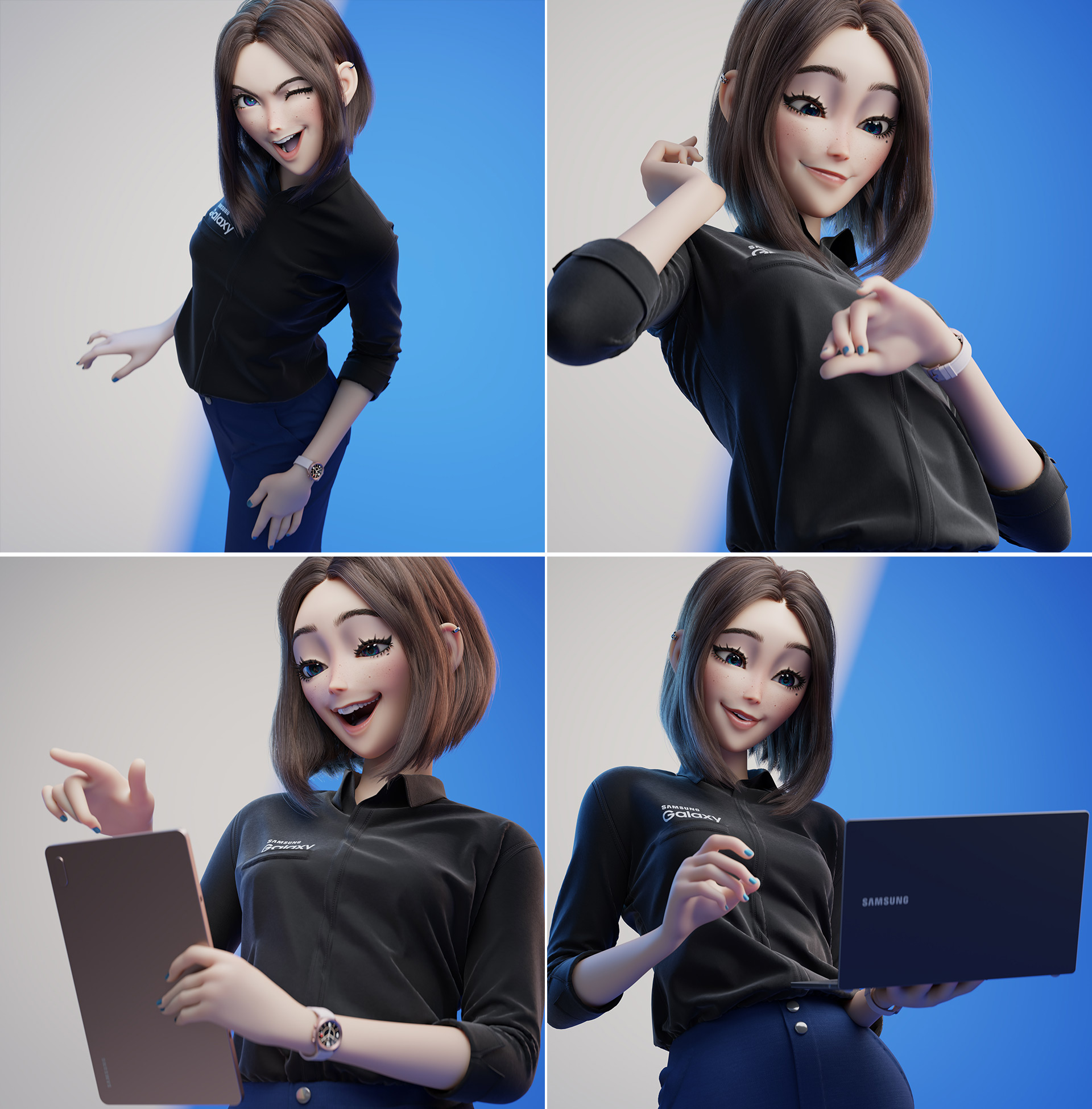 Samsung S Unreleased Virtual Assistant Sam Takes Over The Internet As Twitter Makes Fanart Of Her Soyacincau Com