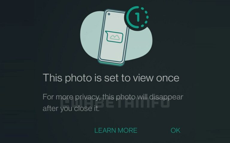 """WhatsApp """"View Once"""" feature lets you send photos or videos that disappear right after viewing"""